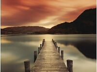 BEAUTIFUL FRAMED SCENE OF ULLSWATER LAKE - MEL ALLEN