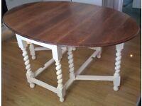Oak 1920's Barley twist legs Dining Table,