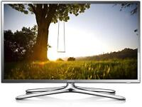 """Samsung 40"""" chrome smart LED tv wi-fi enabled apps YouTube Netflix Free Delivery"""