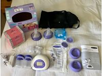 Lanisoh Electric Breast Pump - barely used, includes all parts as new and handy bag to store it all.