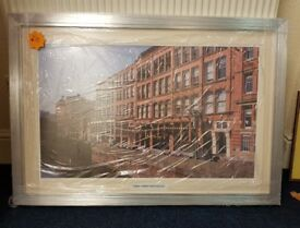 Shop clearance large picture, 'canal street Manchester' in lovely silver frame