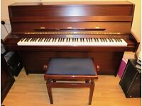 Kemble Upright Piano with Adjustable Piano Stool