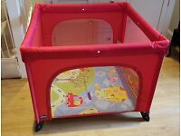 Red Chicco Playpen in excellent condition