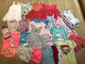 GIRLS 4-5 Years CLOTHES SUMMER KIDS CLOTHES BUNDLE