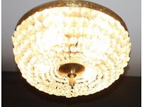 LARGE VINTAGE FRENCH CEILING LIGHT, CIRCULAR PLAFONNIER - Ref: GDC2