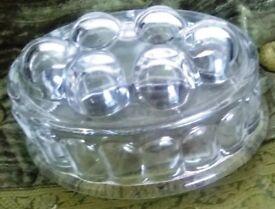 VINTAGE ORIGINAL OVAL GLASS JELLY/BLAMCMANGE MOULD. 1 PINT.