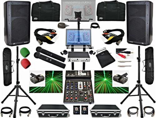 Complete Professional karaoke dj system, dj laser lights, Peavey Wireless mics