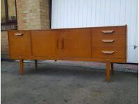 Mid Century Teak Sideboard Vintage Storage