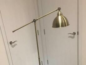 floor lamp, brass/gold light