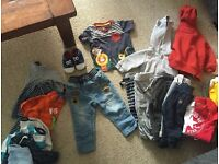Baby boy clothes 3-9 months smoke and pet free home