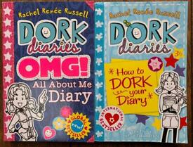 Dork Diaries - 'OMG All about me diary' & 'How to Dork Your Diary 3 1/2 '
