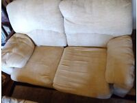 G-Plan Fabric Two Seater Sofa - Half Recliner