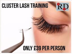 Accredited, Certified and Insurable cluster lash training in salon training