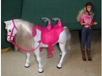 Barbie Walking Horse & Barbie Doll