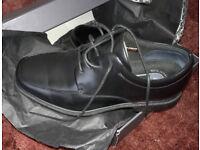 Mens black leather shoes (formal) Rockport (Evander) brand new unworn