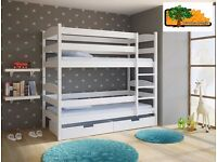 LUCY Wooden Bunk Bed for Children/Kids made of Solid Wood