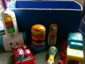 Storage box with toys