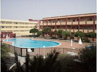 APARTMENT 2 BEDROOMS £165 FOR 2.FUERTEVENTURA CANARIES SPAIN.COAST SUN QUIET