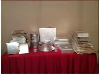 Cake boards, drum, boxes