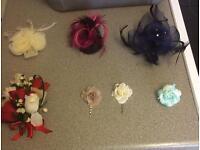 Bundle Of Hair Fascinators & Buttonhole