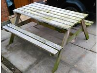 Wooden Garden Picnic Bench - Outdoor Furniture