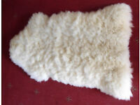 Genuine Lambskin Rug - Washable -42 inches long - 25 inches wide
