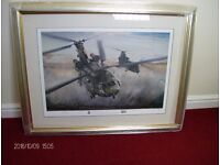 """Framed """"Chinook – By day by night"""" limited edition print."""