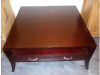 NEW M&S TRADITIONAL COFFEE TABLE WITH DRAWERS AND SHELF