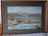 Framed print by B W Leader RA. Frame and print in excellent condition