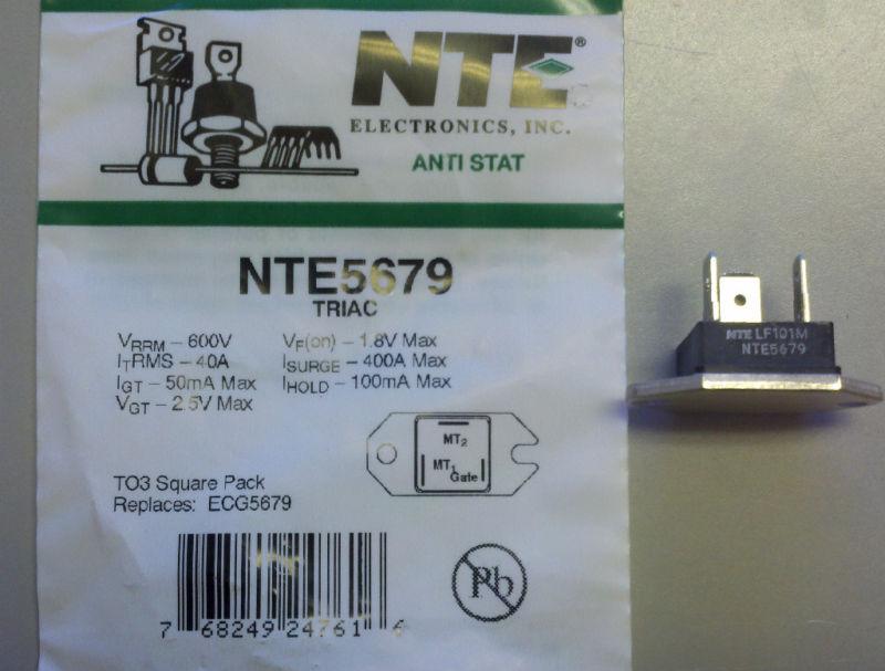 NTE NTE5679 TRIAC-600VRM 35A TO-3 SQUARE PACK