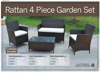 BRAND NEW IN BOX Rattan garden furniture set.
