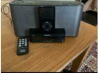 Ipod + Sony Dock Speaker/Alarm
