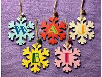 Personalised Initial Christmas Tree Decoration