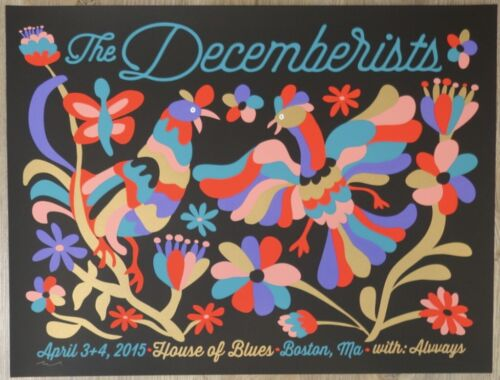 2015 The Decemberists - Boston Silkscreen Concert Poster by Nate Duval