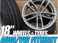 """4NEW 18"""" ALLOYS WHEELS + TYRES AUDI STYLING A3 A4 A5 A6 S3 S4 S5 S6 Q3 S LINE"""