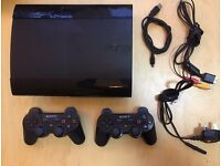 Sony Playstation 3 Super Slim 500 GB Console 2 Controllers