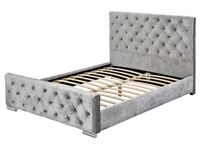 Crushed Velvet Kingsize Bed Frame Available from 25th May 2018