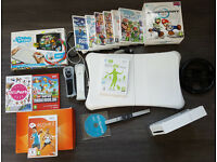 Nintendo Wii and Balance Board + U-Draw Tablet, Games & Accessories