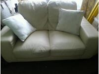 **Free**Faux leather sofa two seater** free