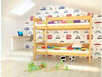 Natural Standard wooden bunk bed