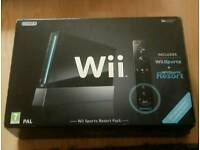 Wii with wii sports resort pack with games