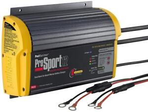 NEW ProMariner 43012 ProSport 12 12 Amp, 12/24 Volt, 2 Bank Generation 3 Battery Charger