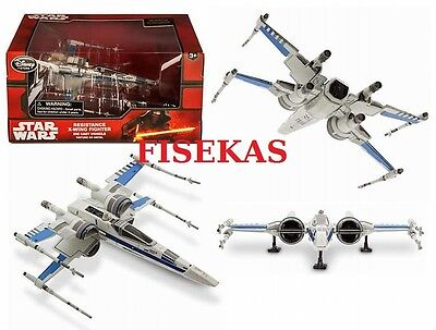 Disney Store Star Wars Resistance X-Wing Fighter Blue Die Cast Vehicle 2015 NEW