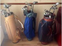 Job lot - 4 sets including bags - 3 right handed 1 left handed