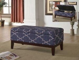 Navy Blue Bench with Wooden Frame - IF-680 in Toronto Furniture Sale (BD-1478)