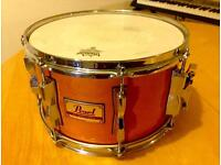 Pearl 12x7 Soprano Snare Drum & Protection Racket case