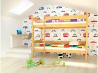 ALEX Y Pine Wooden Bunk Bed for Children/Kids made of Solid Wood