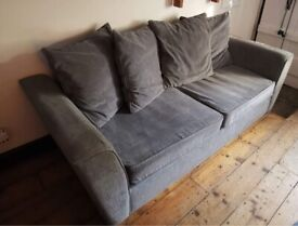 3 and 2 seat grey fabric scatter sofas