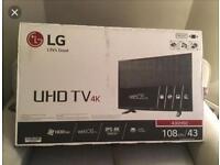 "LG smart 4K tv 43"""