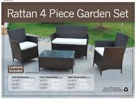 BRAND NEW rattan garden furniture set conservatory patio outdoor chairs table